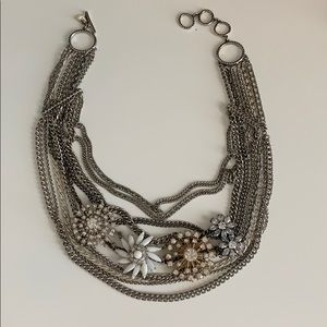 Stella and Dot mixed metal statement necklace